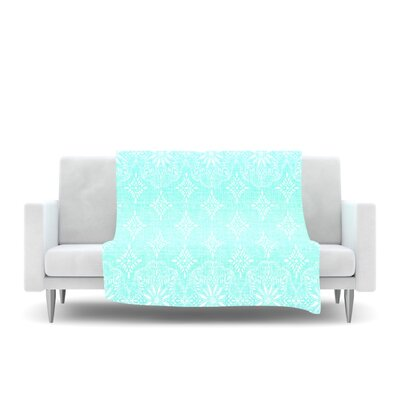 Fleece Throw Blanket Size: 80 L x 60 W, Color: Aqua