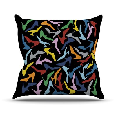 Shoe Outdoor Throw Pillow Color: Multi / Black