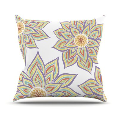 Floral Rhythm Outdoor Throw Pillow Color: White