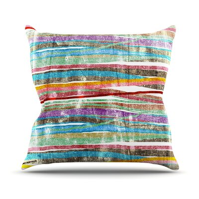 Fancy Stripes Outdoor Throw Pillow Color: Light
