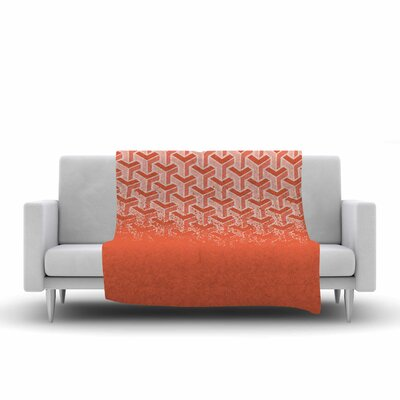No Yard Fleece Throw Blanket Size: 80 L x 60 W, Color: Coral