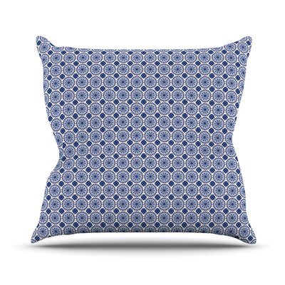 Bohemian Blues II by Carolyn Greifeld Throw Pillow Size: 18 H x 18 W x 3 D