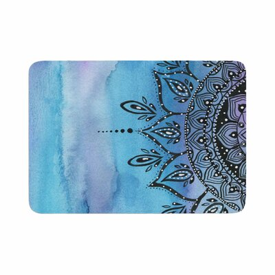 Mandala by Li Zamperini Memory Foam Bath Mat Color: Blue