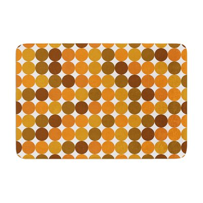 Harvest Bath Mat Color: Orange, Size: 24 W x 36 L