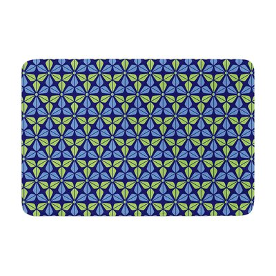 Infinite Flowers by Nick Atkinson Bath Mat Color: Blue/Green