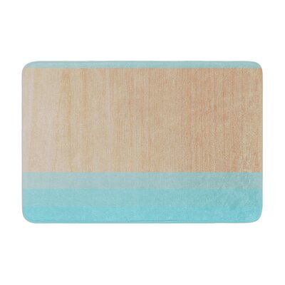 Art by Brittany Guarino Bath Mat Color: Blue, Size: 17W x 24L