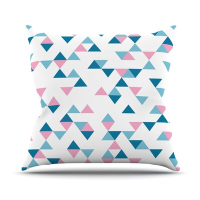 Triangles Outdoor Throw Pillow Color: Pink