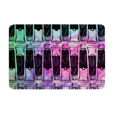 Paint Tubes by Theresa Giolzetti Bath Mat Color: Pink/Blue