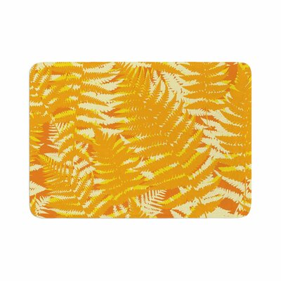 Fun Fern by Jacqueline Milton Bath Mat Color: Citrus