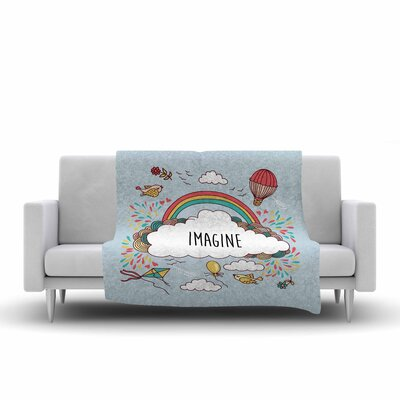 Imagine Fleece Throw Blanket Size: 60 L x 50 W