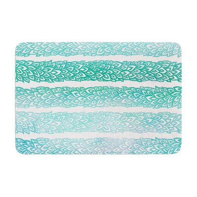 Leafs from Paradise by Pom Graphic Design Bath Mat Color: Teal