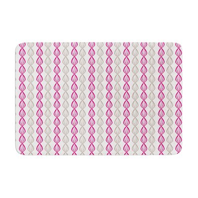 Pod by Julie Hamilton Bath Mat Color: Plum, Size: 17W x 24L