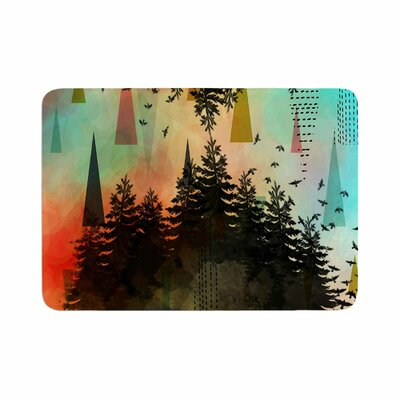 As Above, So Below by alyZen Moonshadow Bath Mat Color: Turquoise