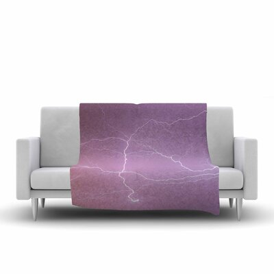 Pastel Lightning Fleece Throw Blanket Size: 90