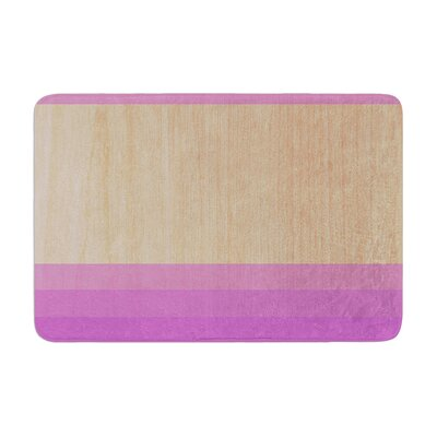 Art by Brittany Guarino Bath Mat Color: Purple, Size: 17W x 24L