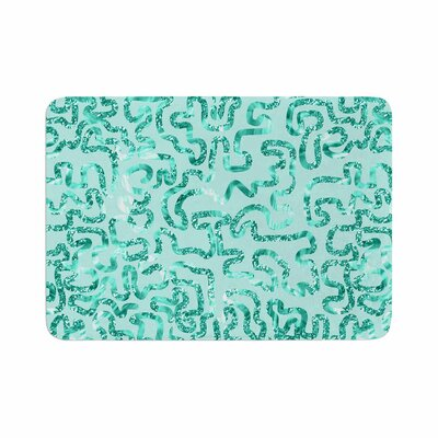 Squiggles by Anneline Sophia Bath Mat Color: Teal
