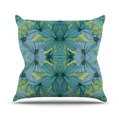 Blues in Blue by Akwaflorell Throw Pillow Size: 16 H x 16 W x 3 D