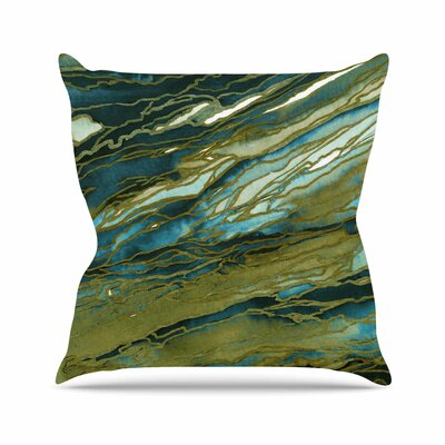 Agate Magic Throw Pillow Color: Olive / Teal Blue, Size: 16 H x 16 W x 6 D
