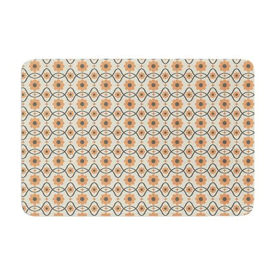 Floral by Nandita Singh Bath Mat Color: Peach