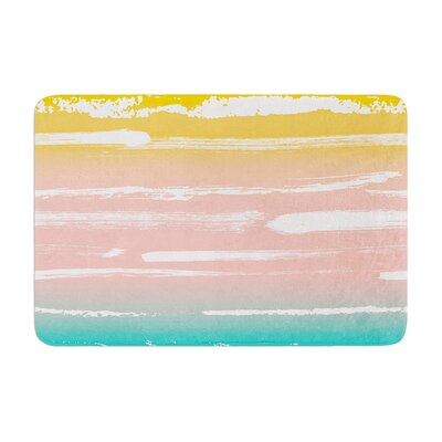 Painted Stripes by Anneline Sophia Bath Mat Color: Peach, Size: 17W x 24L