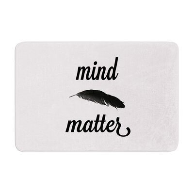 Mind Over Matter by Skye Zambrana Bath Mat Color: White