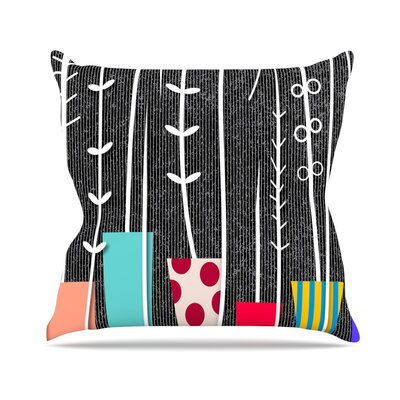 Wild Plants by Danny Ivan Throw Pillow Size: 20 H x 20 W x 4 D