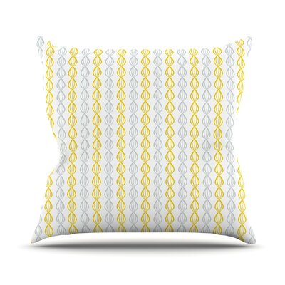 Pod Outdoor Throw Pillow Color: Yellow
