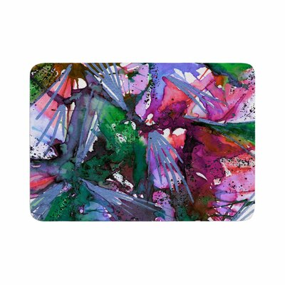 Birds of Prey by Ebi Emporium Memory Foam Bath Mat Color: Green/Pink, Size: 24 L x 17 W