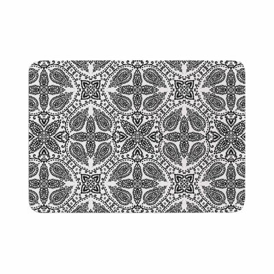 Boho by Candice Singh Memory Foam Bath Mat Color: Black/White
