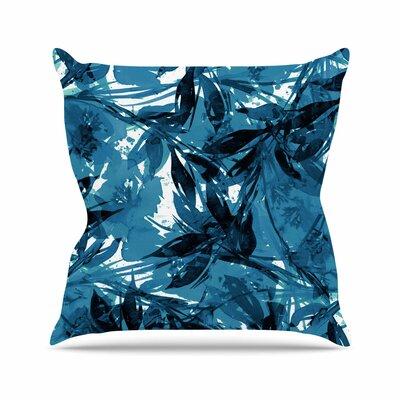 Floral Fiesta Throw Pillow Size: 18 H x 18 W x 6 D, Color: Blue
