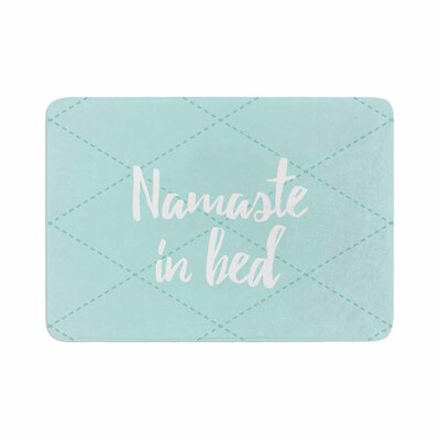 Namaste in Bed Memory Foam Bath Mat Color: Teal
