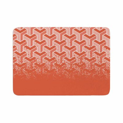 No Yard by Just L Memory Foam Bath Mat Size: 36 L x 24 W, Color: Coral