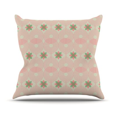 Pattern by Deepti Munshaw Outdoor Throw Pillow Color: Green/Pink