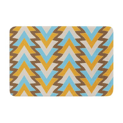 My Triangles by Julia Grifol Bath Mat Color: Blue, Size: 24 W x 36 L