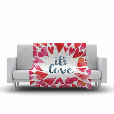 Its Love Fleece Throw Blanket Size: 90 L x 90 W
