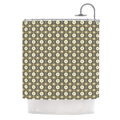 Floral by Nandita Singh Shower Curtain Color: Brown