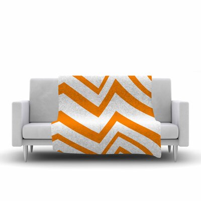 Zig Zag by NL Designs Fleece Blanket Color: Orange