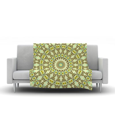 Kaleidoscope by Iris Lehnhardt Fleece Blanket Color: Green, Size: 80 L x 60 W