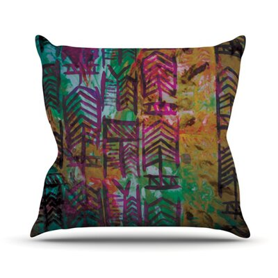 Quiver by Theresa Giolzetti Outdoor Throw Pillow Color: Multi