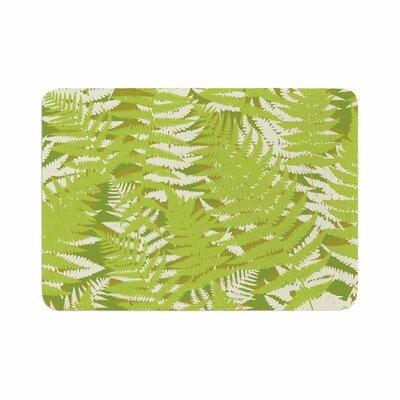 Fun Fern by Jacqueline Milton Memory Foam Bath Mat Color: Green