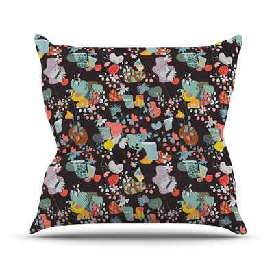 At Home by Akwaflorell Throw Pillow Size: 26 H x 26 W x 5 D