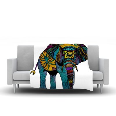 Elephant of Namibia Throw Blanket Color: Multi, Size: 80 L x 60 W