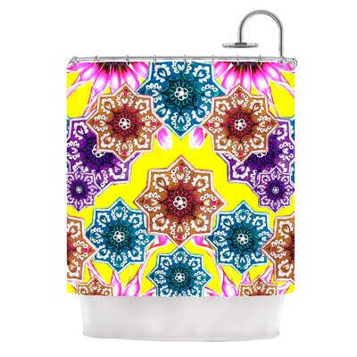 Flower Power by Fernanda Sternieri Floral Shower Curtain Color: Yellow
