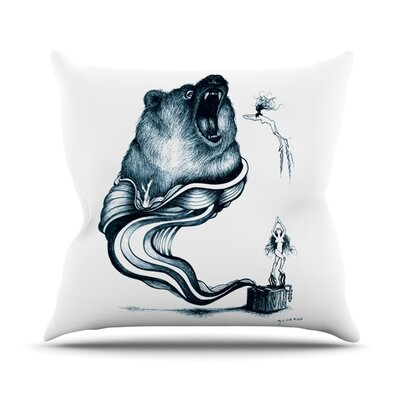 Hot Tub Hunter by Graham Curran Outdoor Throw Pillow Color: White