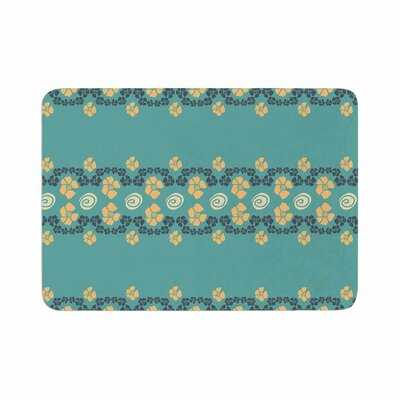 Flora Formations by Zara Martina Mansen Bath Mat Color: Teal