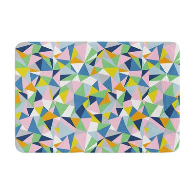 Abstraction by Project M Bath Mat Color: Pink