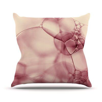 Bubbles by Ingrid Beddoes Outdoor Throw Pillow Color: Pink