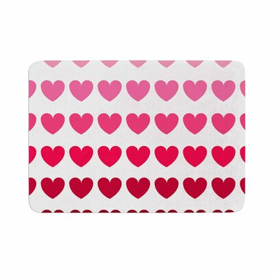 Hearts by NL Designs Bath Mat Color: Pink