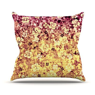 Flower Power Outdoor Throw Pillow Color: Yellow
