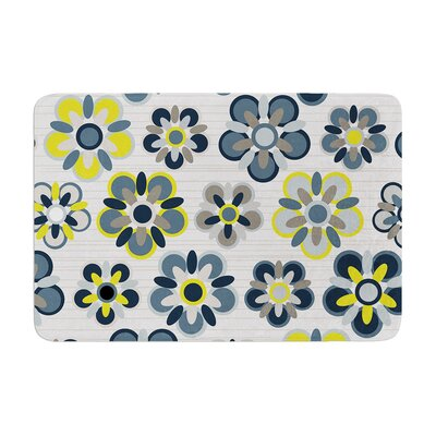 Folksy by Jolene Heckman Bath Mat Color: Blue, Size: 17W x 24L